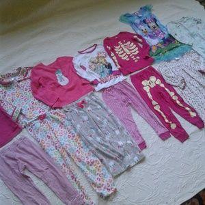 Huge Lot Pajamas 4T Separates Footed Nightdress